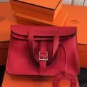 Wholesale Hermes Halzan Bag In Red Clemence Leather HJ00859