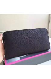 1:1 Hermes Black Clemence Azap Zipped Wallet HJ01149