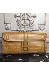 1:1 Imitation Hermes Jige Elan 29 Clutch In Camarel Crocodile Leather HJ00889