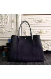 AAA Hermes Medium Garden Party 36cm Tote In Black Leather HJ00882