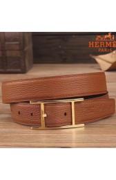 AAA Hermes Quentin 32 MM Brown Reversible Belt HJ01265