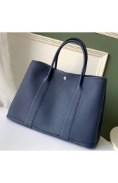 AAA Imitation 1:1 Hermes Navy Fjord Garden Party 30cm With Printed Lining HJ01119