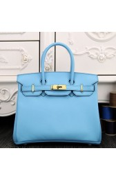 AAA Knockoff Hermes Birkin 30cm 35cm Bag In Light Blue Epsom Leather HJ01339