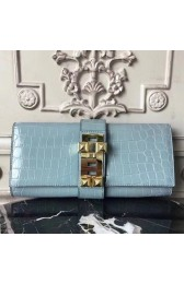AAA Knockoff Hermes Medor Clutch Bag In Ciel Crocodile Leather HJ00323