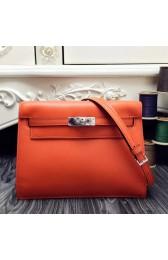 Best Cheap Hermes Kelly Danse Bag In Orange Swift Leather HJ00361