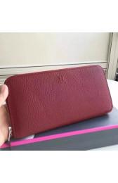 Best Imitation Replica Hermes Ruby Clemence Azap Zipped Wallet HJ00797