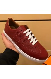 Cheap Hermes Olympic Sneakers In Red Leather HJ00930
