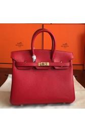 Cheap Knockoff Hermes Red Epsom Birkin 25cm Handmade Bag HJ00247