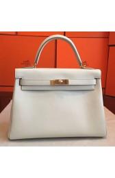 Copy AAA Replica Hermes Ivory Swift Kelly Retourne 32cm Handmade Bag HJ01146