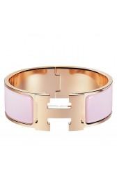 Copy Copy Hermes Rose Dragee Enamel Clic Clac H PM Bracelet HJ00386