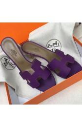 Copy Designer Hermes Purple Epsom Oasis Sandals HJ00807
