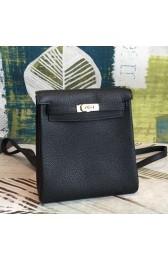Copy Hermes Black Clemence Kelly Ado PM Backpack HJ00891