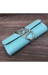 Copy Hermes Handmade Egee Clutch In Atoll Blue Swift Leather Replica HJ01180
