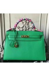 Copy Luxury Cheap Fake Hermes Bamboo Epsom Kelly 32cm Sellier Bag HJ00791