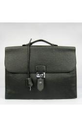 Designer Imitation Knockoff Hermes Black Sac A Depeches 38cm Briefcase Bag HJ01090