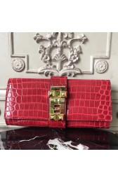 Discount Hermes Medor Clutch Bag In Red Crocodile Leather HJ00838