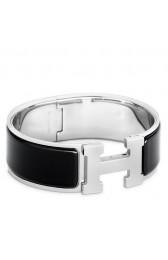 Fake Copy Hermes Black Enamel Clic Clac H PM Bracelet HJ00465
