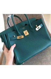 Fake Faux Hermes Malachite Clemence Birkin 30cm Handmade Bag HJ00958