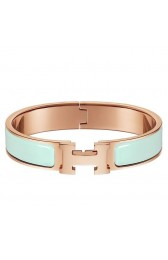 Fake Hermes Aqua Enamel Clic H PM Bracelet Replica HJ00437