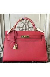 Fake Hermes Red Epsom Kelly 32cm Sellier Bag HJ01182