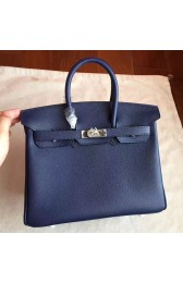 Fake High Quality Hermes Sapphire Epsom Birkin 25cm Handmade Bag HJ00892