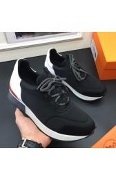 Fake Perfect Hermes Men Noir Miles Sneakers HJ00937