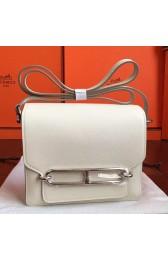 Fashion Hermes Mini Sac Roulis Bag In Ivory Swift Leather HJ01241