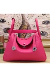 Fashion Replica Fashion Hermes Rose Red Clemence Lindy 34cm Bag HJ00869
