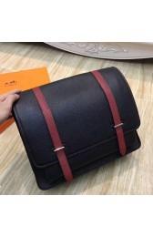 Fashion Replica Hermes Bicolor Steve 35 Messenger Black Bag HJ00031