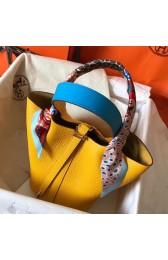 Hermes Bicolor Picotin Lock MM 22cm Yellow Bag HJ00997