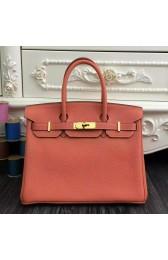 Hermes Birkin 30cm 35cm Bag In Crevette Clemence Leather HJ00759