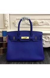 Hermes Birkin 30cm 35cm Bag In Electric Blue Clemence Leather HJ01245