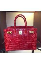 Hermes Birkin 30cm 35cm Bag In Red Crocodile Leather Replica HJ00870