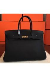 Hermes Black Clemence Birkin 40cm Handmade Bag HJ00081