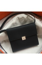 Hermes Black Clic 16 Wallet With Strap Replica HJ00141