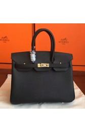 Hermes Black Epsom Birkin 25cm Handmade Bag HJ00677