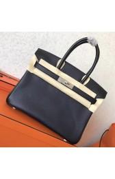 Hermes Black Epsom Birkin 30cm Handmade Bag HJ01077
