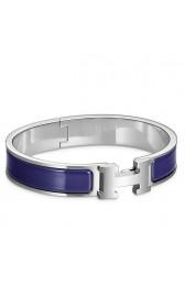 Hermes Blue Electric Enamel Clic H PM Bracelet HJ01343