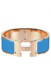 Hermes Blue Enamel Clic Clac H PM Bracelet HJ01043