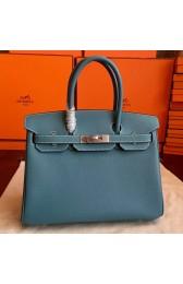 Hermes Blue Jean Epsom Birkin 30cm Handmade Bag HJ00981