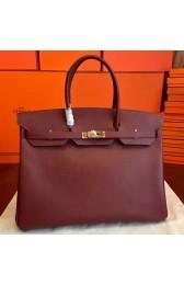 Hermes Bordeaux Epsom Birkin 40cm Handmade Bag Replica HJ01326