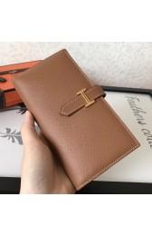 Hermes Brown Epsom Bearn Gusset Wallet HJ00911