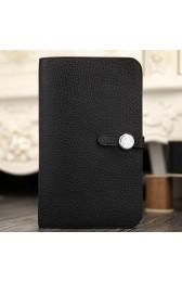 Hermes Dogon Combine Wallet In Black Leather HJ00273