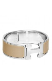 Hermes Etoupe Enamel Clic Clac H PM Bracelet Replica HJ01337