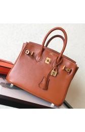 Hermes Gold Swift Birkin 25cm Handmade Bag Replica HJ00138