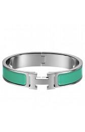 Hermes Green Enamel Clic H PM Bracelet HJ00671
