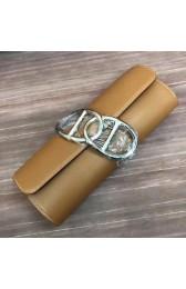 Hermes Handmade Egee Clutch In Caramel Swift Leather HJ01321