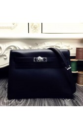 Hermes Kelly Danse Bag In Black Swift Leather HJ01078