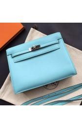 Hermes Kelly Danse Bag In Celeste Swift Leather HJ00757