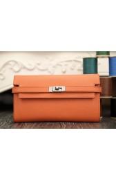 Hermes Kelly Longue Wallet In Crevette Epsom Leather Replica HJ00118